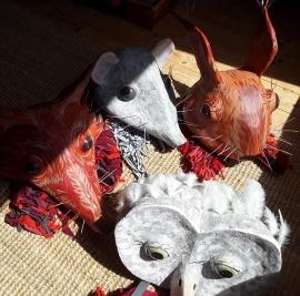 Theatre Masks. SOLD